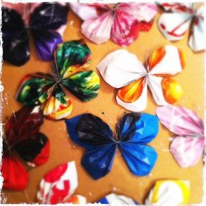 Pappersfjärilar på mirkka