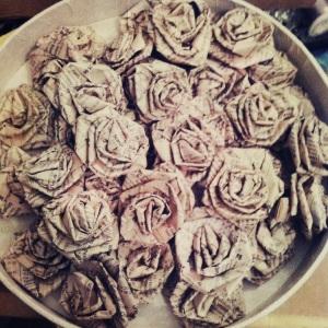 mirkka rosor av papper